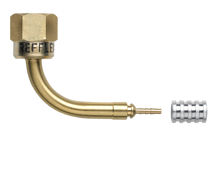 REFFLEX DN-2.0 mm 90° angle fitting 1/4″ flare article code 200633